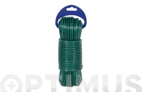 Cable acero plastificado ø 3,5mm 15 mt verde