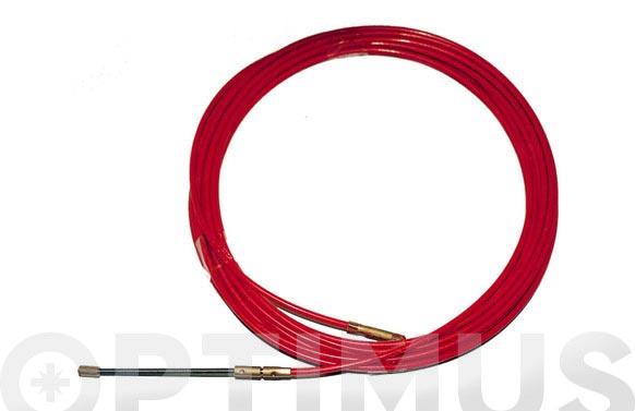 Pasacables acero/nilon 4mm 15 m rojo