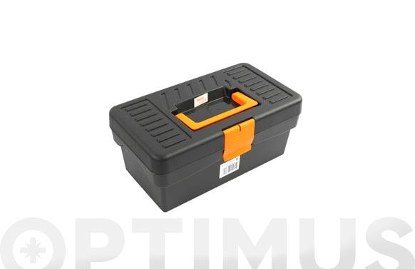 Caja herramientas polipropileno negra basic line 170 x 290 x 127 mm 1 bandeja