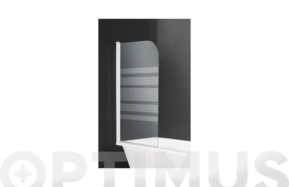 Mampara bañera 1 hoja cristal serigrafiado 80 x 140 cm
