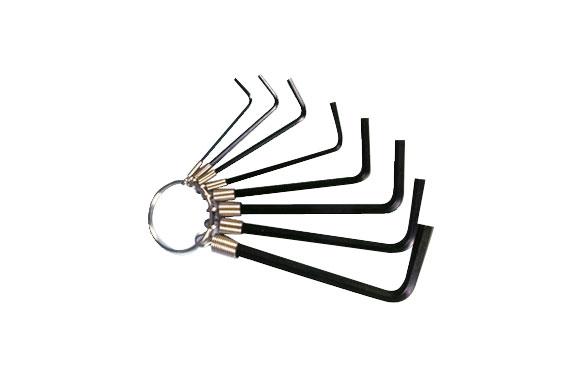 Llave allen en anilla juego 8 piezas de 1,5 a 6 mm