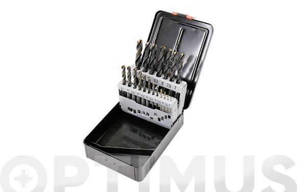 Broca para metal hss pro juego 19 piezas ø de 1 a 10 mm. de ½ en ½ mm.