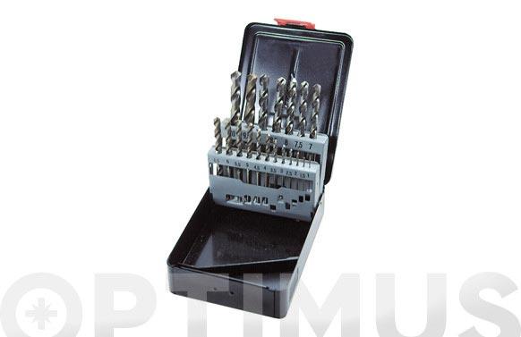 Broca para metal hss cobalto juego 19 piezas ø de 1 a 10 mm. de ½ en ½ mm.