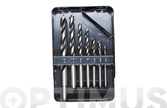 Broca para madera 3 puntas juego 7 piezas ø 4-5-6-7-8-10-12