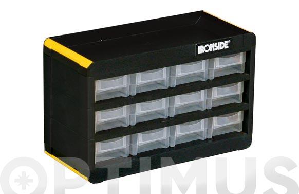 Clasificador apilable plastico 190 x 300 x 135 mm 12 compartimientos