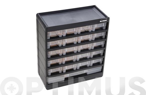 Clasificador apilable plastico 334 x 135 x 300 mm 21 compartimientos