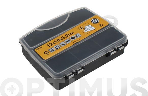 Clasificador maletin polipropileno 120 x 100 x 32 mm 8 compartimentos fijos