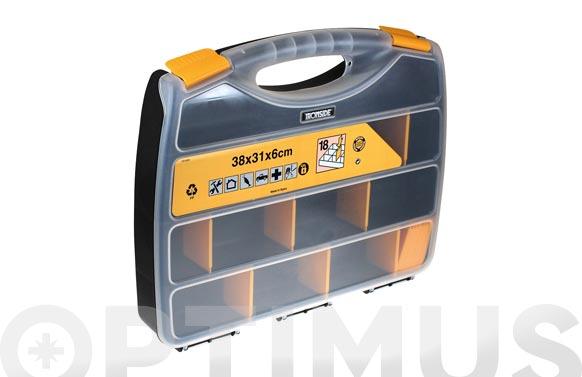Clasificador maletin polipropileno 380 x 310 x 60 mm 18 compartimientos moviles