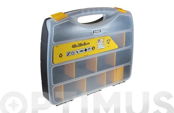 Clasificador maletin polipropileno 480 x 380 x 80 mm 21 compartimientos moviles