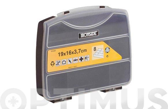 Clasificador maletin polipropileno 190 x160 x 37 mm 8 compartimentos fijos