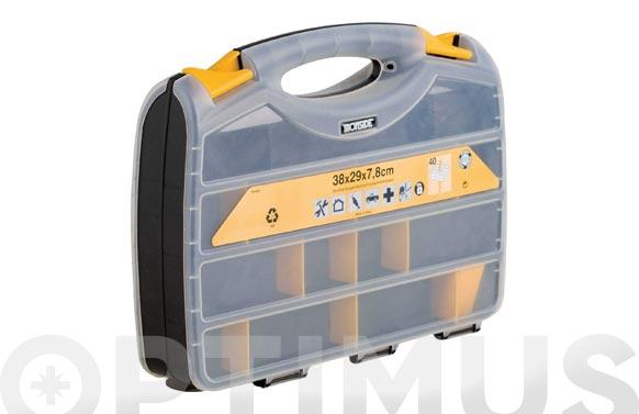 Clasificador maletin doble polipropileno 380 x 290 x 80 mm
