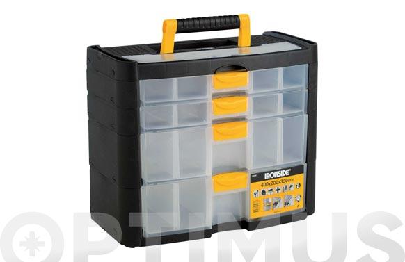 Clasificador maletin polipropileno 330 x 400 x 200 mm 4 compartimientos