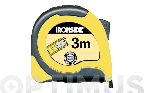 Flexometro abs / bicomponente con freno 3 m x 16 mm cinta impresa a dos caras