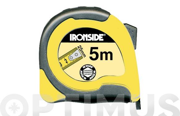 Flexometro abs / bicomponente con freno 5 m x 25 mm cinta impresa a dos caras