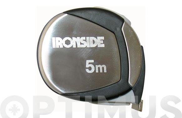 Flexometro acero cromado y goma con iman y freno 8 m x 25 mm cinta impresa a dos caras