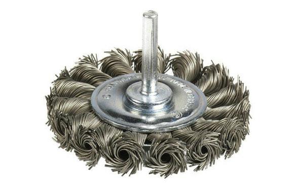 Cepillo circular pua trenzada acero espiga 6 mm ø 75 x 8/0.50