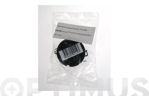 Carrete recambio hilo nilon ø 1,2 mm. para cortabordes ironside ref. 9660769