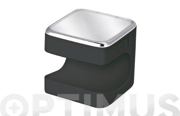 Linterna silicona led cuby 5cm 1,5w negro