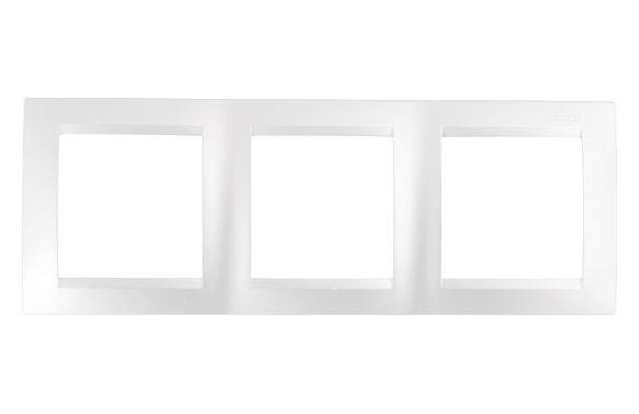 Marco 3 elementos blanco serie 15