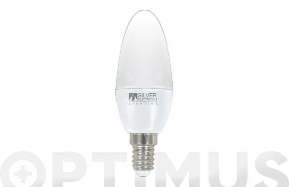 Bombilla led vela 4,5w e14 luz blanca (5000k)