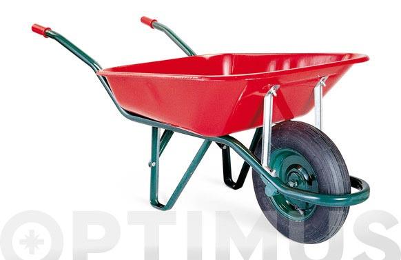Carretilla metalica roja c1-620-85 l rueda neumatica