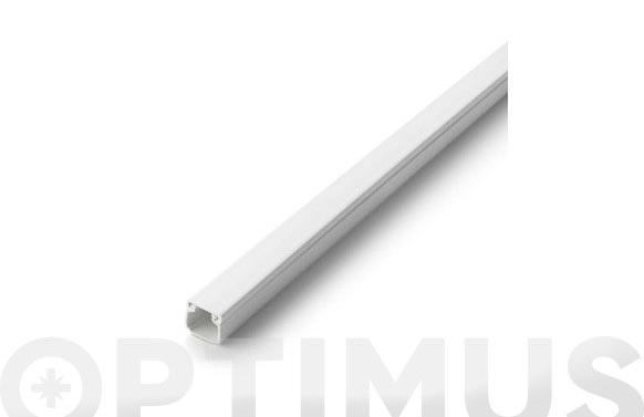 Canaleta adhesiva tapa extraible blanca 16 x 16 mm 2 m