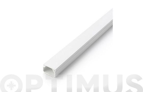 Canaleta adhesiva tapa extraible blanca 25 x 16 mm 2 m