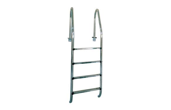 Escalera standard acero inox 4 peldaños