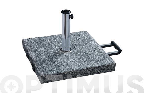 Pie parasol granito saturno con asa y ruedas 40 kg hasta ø 48 mm