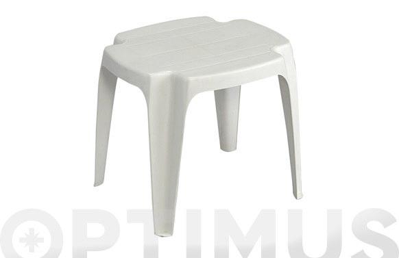 Mesa auxiliar solid blanca 42 x 37 x 38 cm
