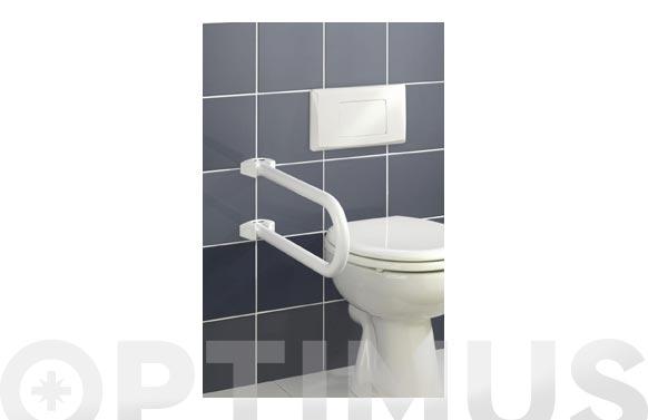 Barra seguridad baño plegable blanco 53x10x21 cm