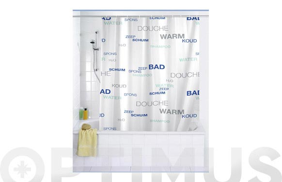 Cortina baño water peva 180 x 200 cm