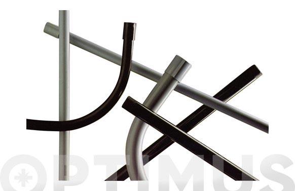 Tubo rigido tuperplas abocardado gris 16 en tiras de 3 m