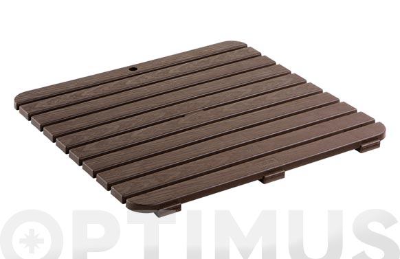 Tarima plato ducha 55 x 55 cm marrón oscura