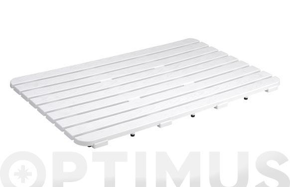 Tarima plato ducha 50 x 80 cm blanca
