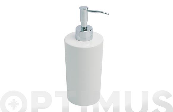 Dosificador jabon ronda plata blanco