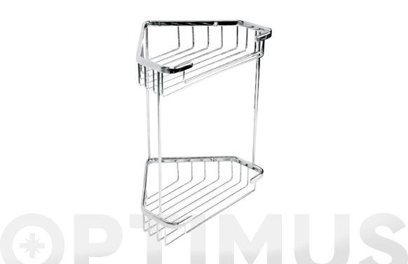 Cesto rinconera 2 estantes 20 x 15 x 27 cm