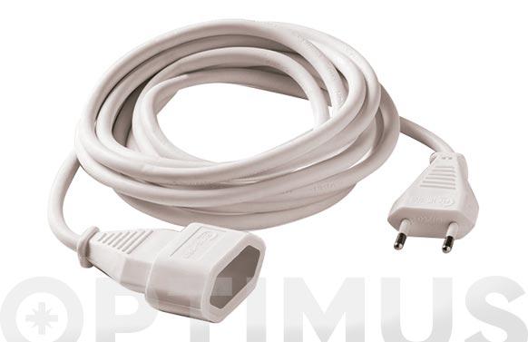 Prolongador 2x1 blanco 10a 3 mt