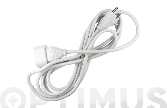 Prolongador 2x1 blanco 10a 5 mt