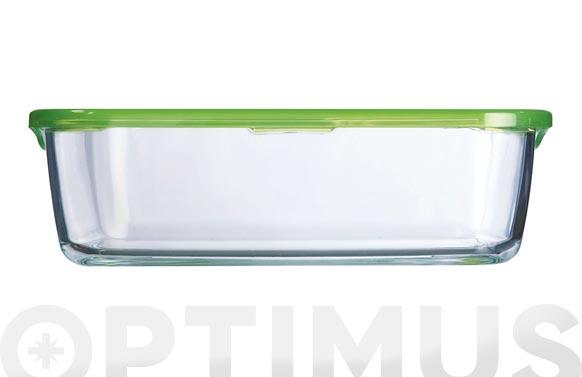 Contenedor vidrio con tapa rectangular 197 cl