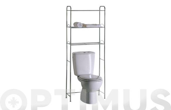 Estanteria wc cromo 60,5 x 154,5 x 25 cm