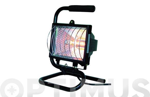 Foco proyector halogeno 120 w 8850 lm negro con soporte/asa tran