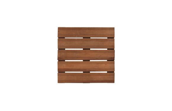 Baldosa de  madera bolenia marron 36 mm 50 x 50 cm