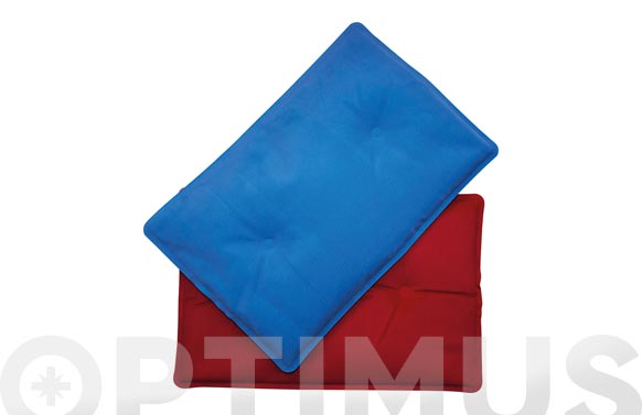 Bolsa gel frio-calor rojo/azul 20 x 30 cm