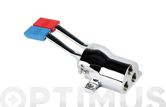 "Grifo horizontal doble pedal con filtro auto limpiante 1/2"""