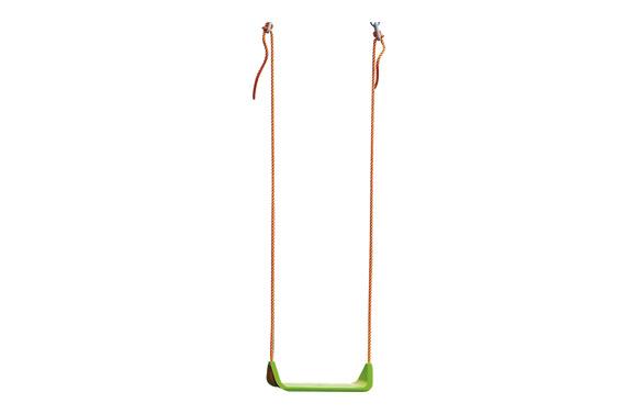 Asiento columpio con cuerdas verde