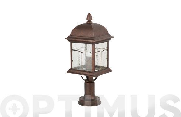 Lámpara sobremuro coria-4 marron oxido con bombilla