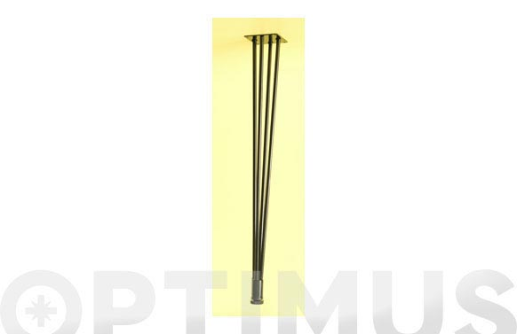 Pata conica de alambre negro 68 cm