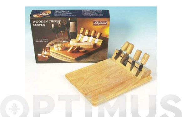 Tabla quesos 4 piezas