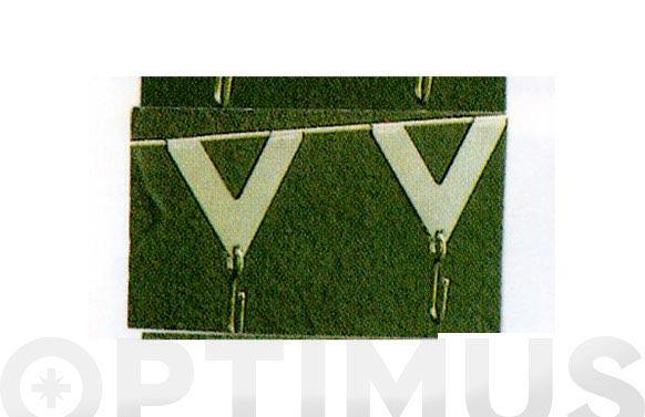 Gancho en triangulo transparente 6 uds